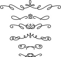 イラスト Set of handwritten decoration lines(5546706)