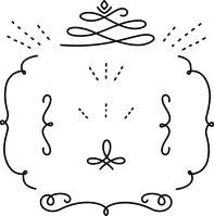 イラスト Set of handwritten decorative lines(5546707)