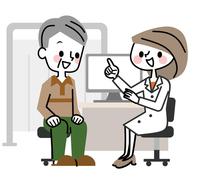 イラスト Medical examination senior male smile(5547164)