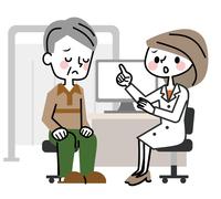 イラスト Medical examination Senior male troublesome face(5547165)