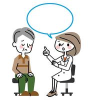 イラスト Medical examination senior male speech(5547171)