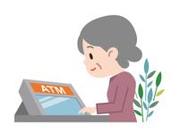 イラスト ATM senior women(5547281)