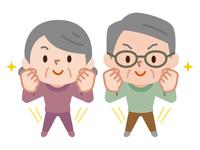 イラスト Energetic senior couple(5547285)