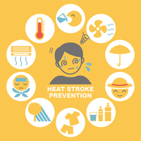 イラスト Prevention of heat stroke and measures icon(5547328)