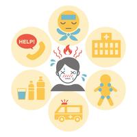 イラスト First aid icon for heat stroke(5547333)
