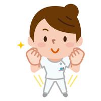 イラスト A healthy caregiver nurse's white suit(5547514)