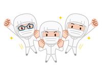 イラスト Sanitary clothing work clothing mask(5547522)