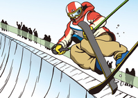 イラスト Freestyle ski half pipe(5547633)