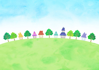 イラスト Sky and townscape(5547686)