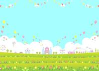 イラスト Theme park flower garden(5547818)