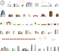 イラスト Cityscape icon set(5547826)