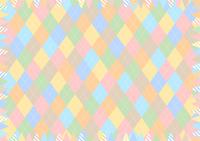 イラスト Colorful Argyle Garland Frame(5547848)