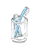 Toothbrushes Toothbrush Cup  Illust