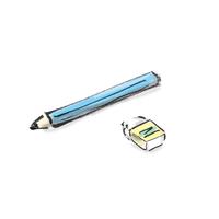 Pencil Extinguishing  Illust