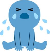 イラスト People sitting in and tearing crying(5548592)