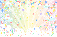 イラスト Fireworks Confetti girand balloon balloon(5548915)