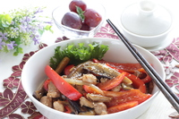 写真 Stir-fried chicken with eggplant of Korean-style red pepper paste(5588405)