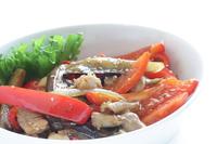 写真 Stir-fried chicken with eggplant of Korean-style red pepper paste(5588407)