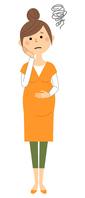 イラスト Pregnant woman prema is troubled(5588652)
