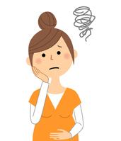 イラスト Pregnant woman prema is troubled(5588655)