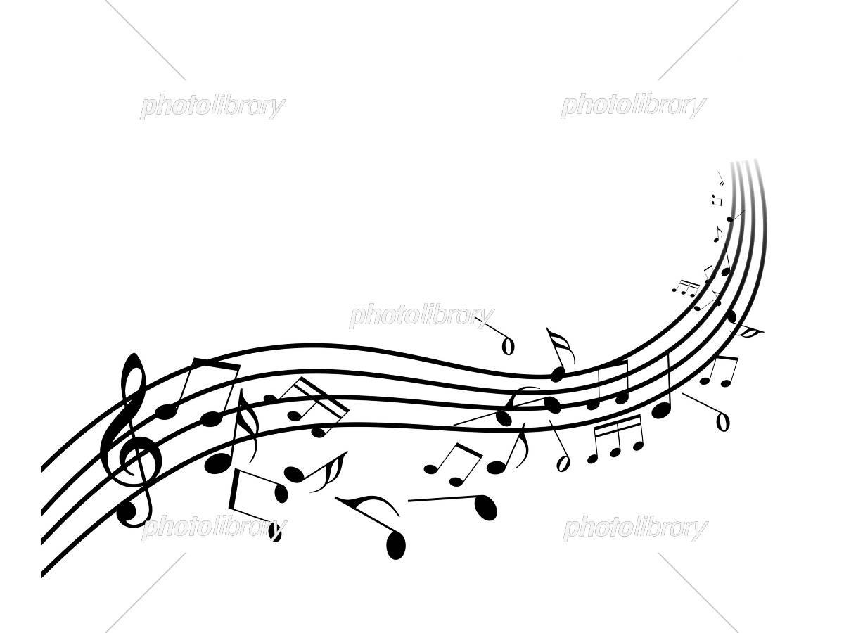 音楽 コンサート 譜面 五線譜 ト音記号 楽譜 ミュージック イラスト素材