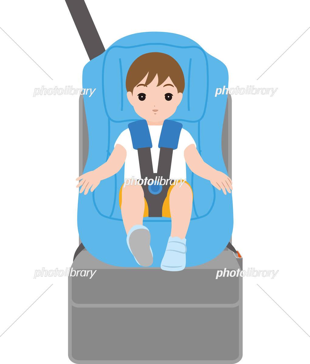 チャイルドシートと男の子 イラスト素材 5691656 フォトライブ