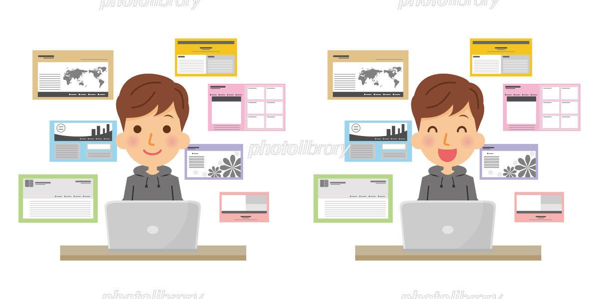 職業 Webデザイナー 男性 イラスト素材 5691741 フォトライブ