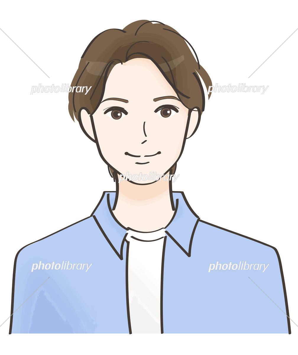 笑顔の男性 イラスト素材 5692401 フォトライブラリー Photolibrary