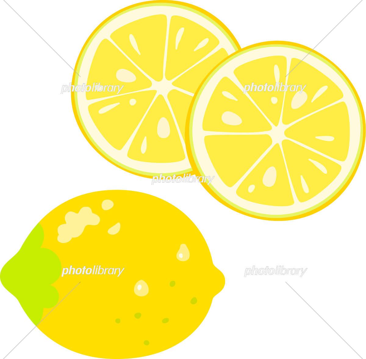 レモンの果実とスライスレモン イラスト素材 5721891 フォトライブ
