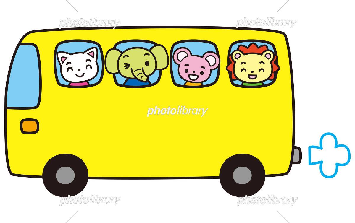 バスと動物 イラスト素材 [ 5728055 ] - フォトライブラリー photolibrary