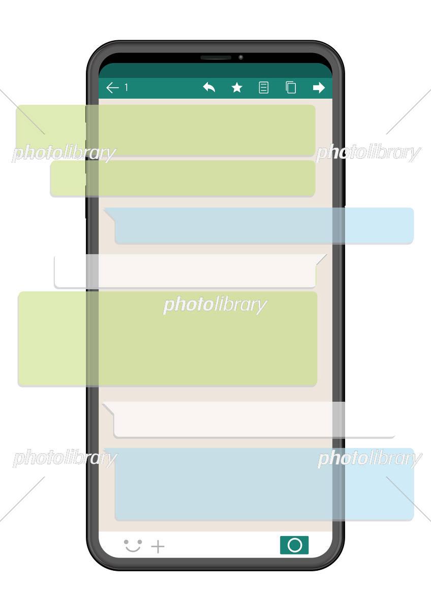 スマートフォン Sns画面バージョン イラスト素材 5729199 フォト