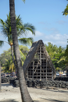 Hawaiian traditional house Pu'uhonua o Honaunau Hawaiian