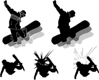Illustration Silhouette Snowboard [295057] An