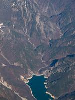 Kurobe fourth dam Aerial Stock photo [338656] Toyama
