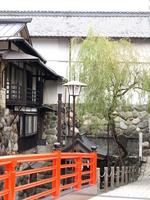 Gujo Hachiman Shimizu Bridge and Zong 腑?羂 Stock photo [340404] Kyoto