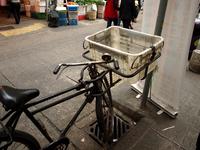 市場の自転車 の写真素材