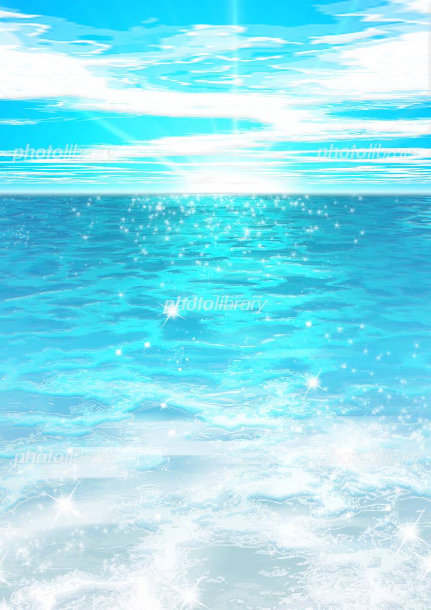真夏の海 イラスト素材 515625 フォトライブラリー Photolibrary