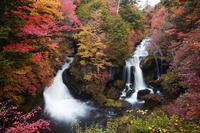 Autumn ryuzu waterfall Stock photo [512760] Sunlight