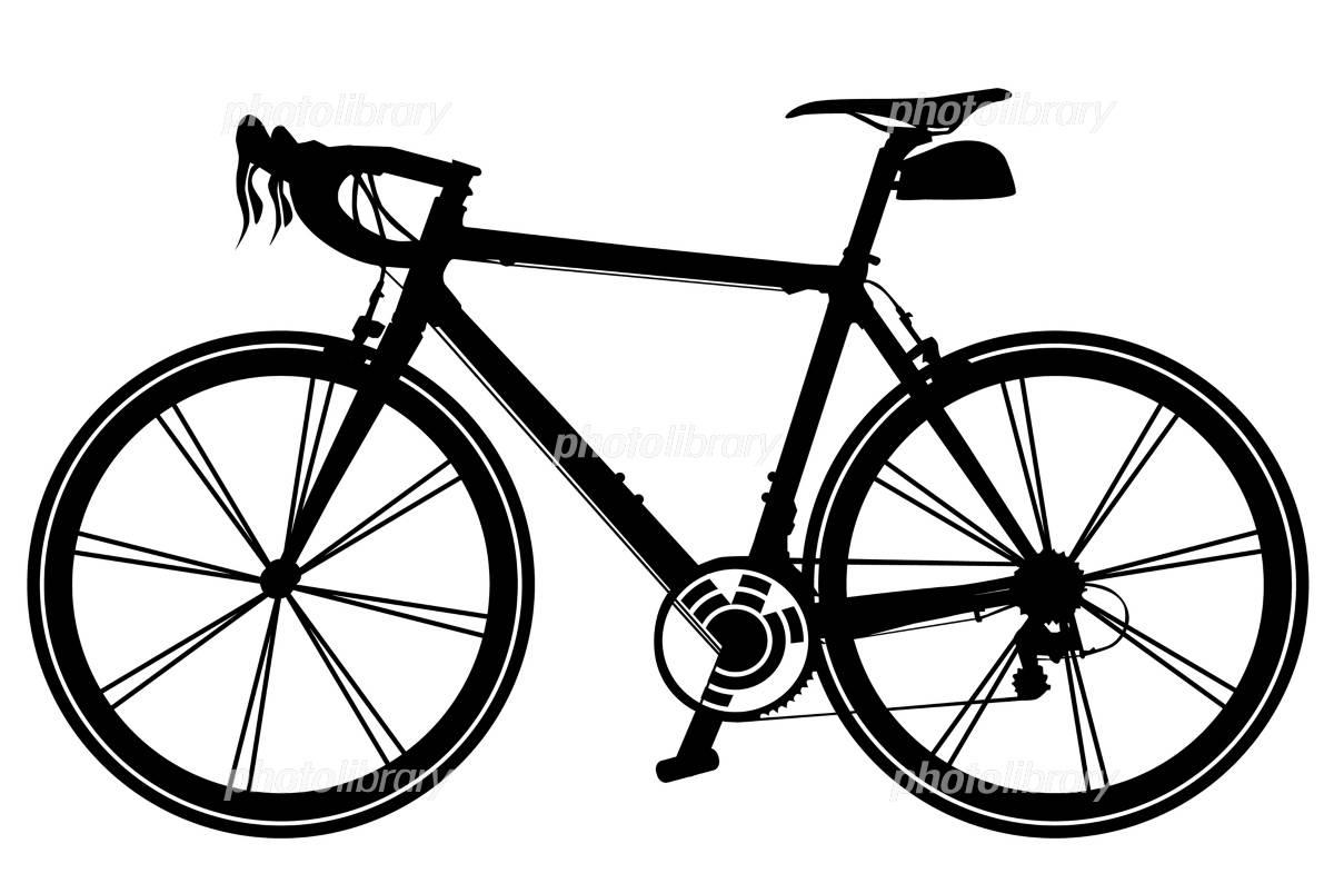 自転車の 自転車 素材 イラスト : シルエット イラスト 自転車 ...