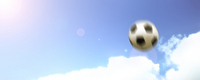 Right there the sky and the soccer ball oblong backlight Stock photo [559066] The