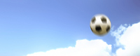 None sky and soccer ball landscape backlit right Stock photo [559074] Synthesis