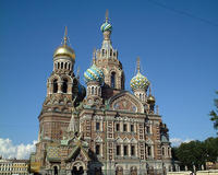 Church of the Savior on the Spilled Blood of Petersburg Stock photo [606443] Church