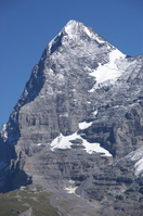 Eiger and Kleine Scheidegg seen from Mullen Stock photo [608914] Jungfrau