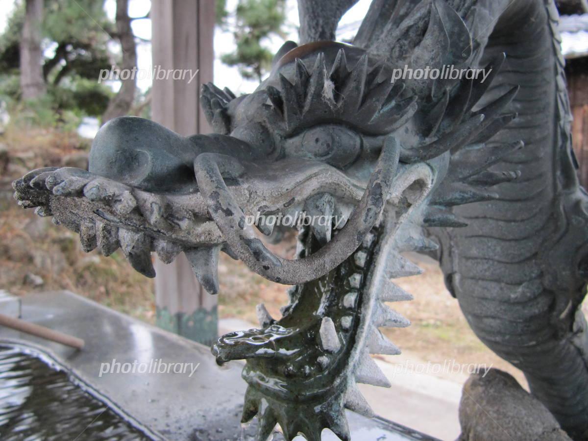 竜の像の写真
