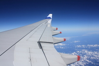 Aircraft wing Stock photo [681333] Airplane