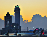 Airport of sunrise Stock photo [683808] Morning