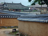 Korea Andong Hahoe Folk Village Hafe village Hafemauru Stock photo [687516] Korea