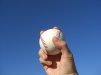 Ball and hand Stock photo [689728] Baseball