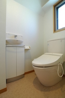 Newly built single-family with hand wash toilet room Stock photo [761184] WC