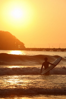 Sunset and surfers of Enoshima Stock photo [764409] Enoshima